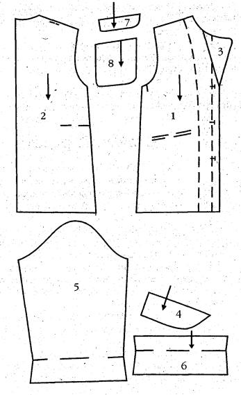 Выкройка с расходом ткани на ламбрекен