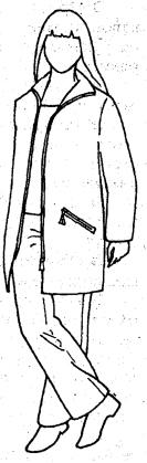 Спортивная куртка прямого покроя