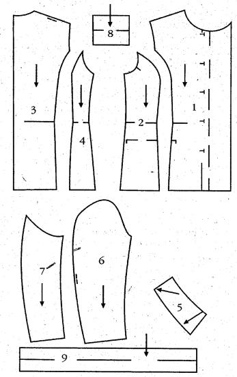 Выкройка жакета без воротника и рукавов 83