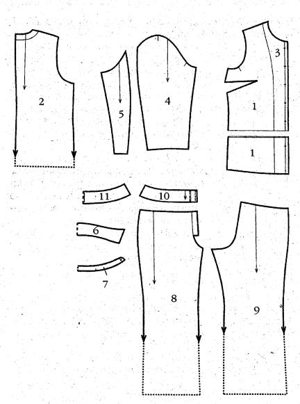 Выкройка брюк для полных