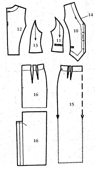 Как сшить жилетку и юбку 557