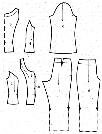 Выкройка брюки-капри