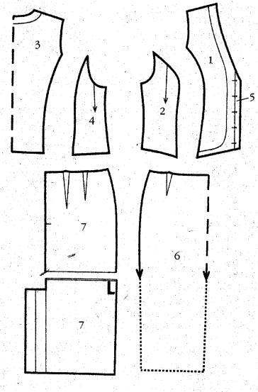 Как сшить жилетку и юбку 604