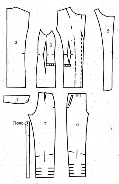 выкройку брюк — в 17,3