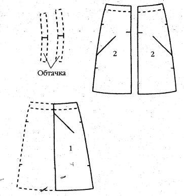 Выкройка шорт с кружевами