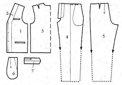 Построение выкройки мужского жилета ксения