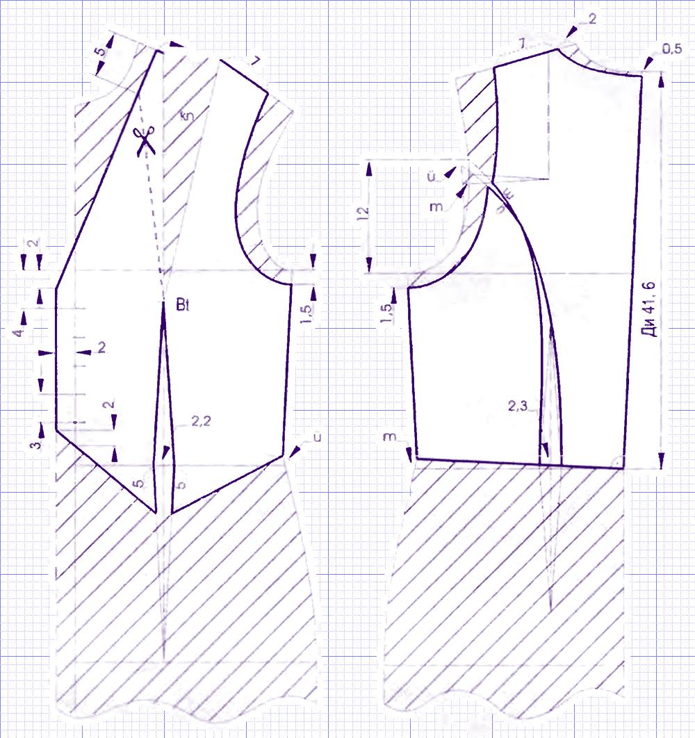 Выкройка мужского жилета и его пошив
