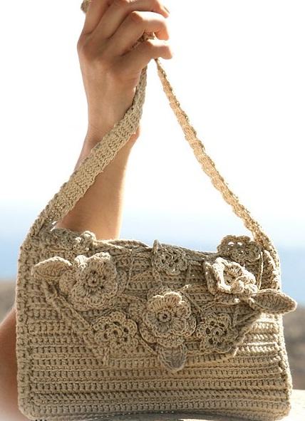 сумка мешок выкройка, Вязаные