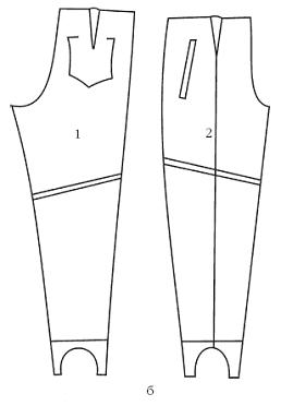 Выкройка брюк на резинке мужские фото 19