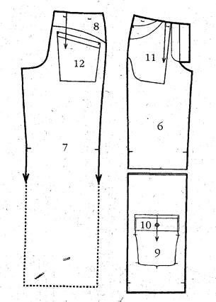 Выкройка спортивных брюк