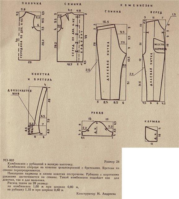 Нужна выкройка женского летнего комбинезона (см. выкройка