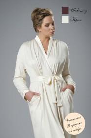 Теплый и мягкий халат с запахом идеально подходит