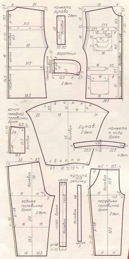 выкройка лекало из брюк джинсовый короткий болеро размер 48-50