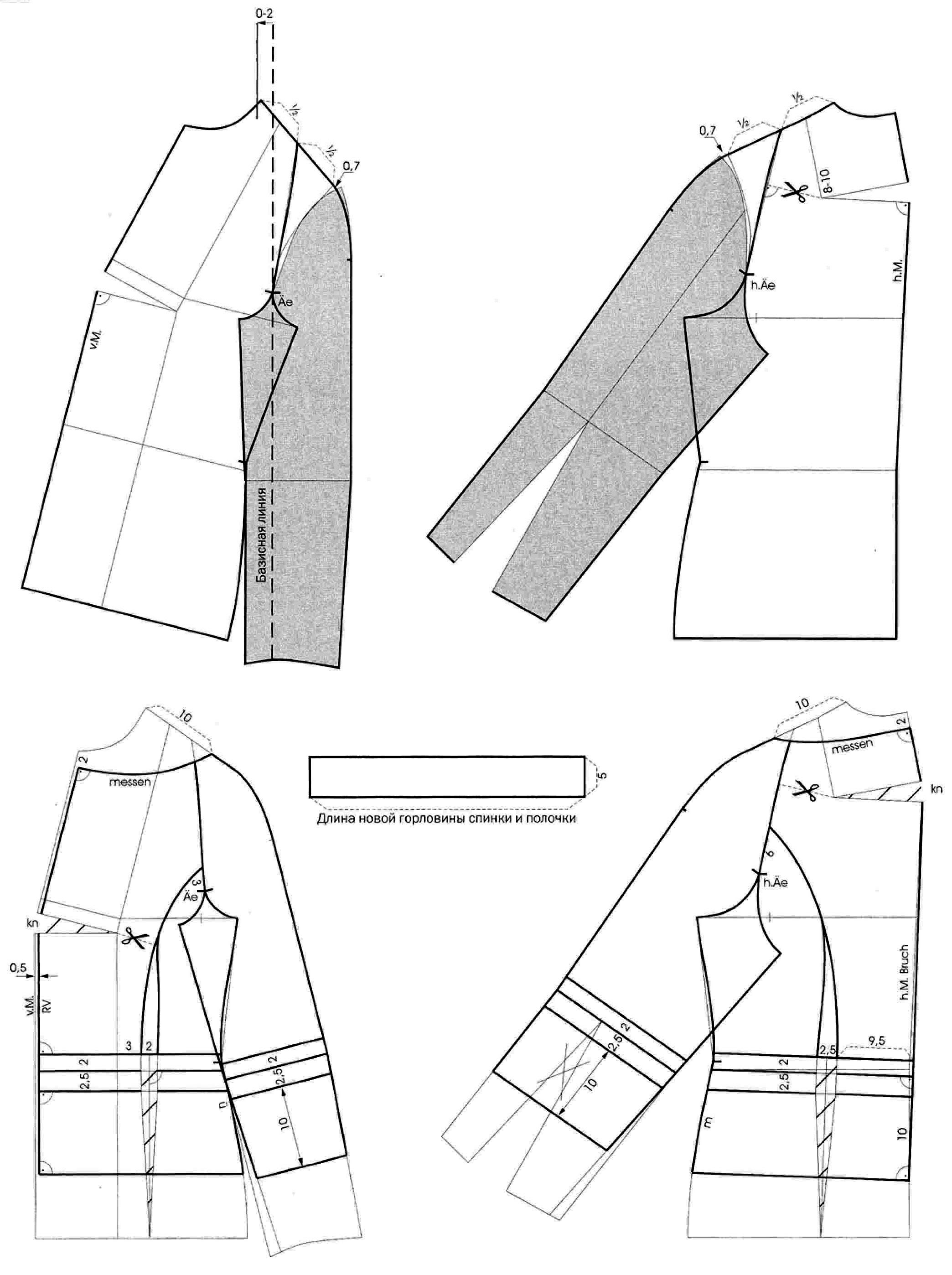 Выкройки жакетов с рукавом реглан