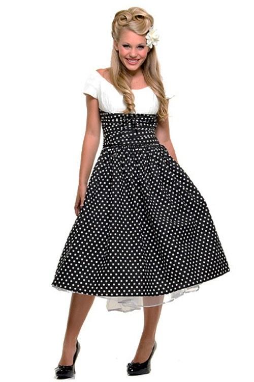 Выкройка платья пышного 50-х годов.