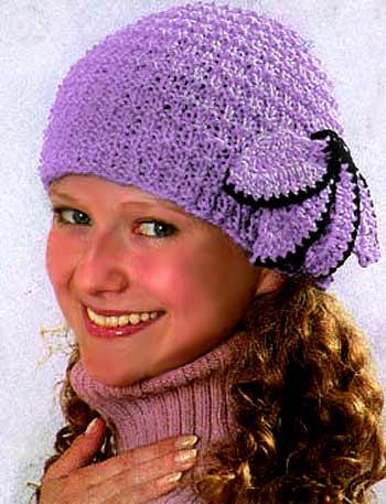 Эксклюзивные взаные шапочки схемы