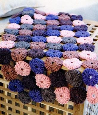 Вязание крючком коврика