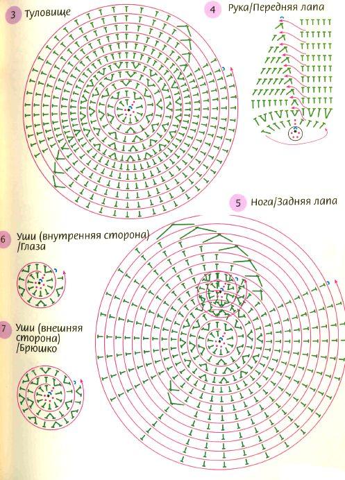 Прихватки овечки крючком схемы и описание