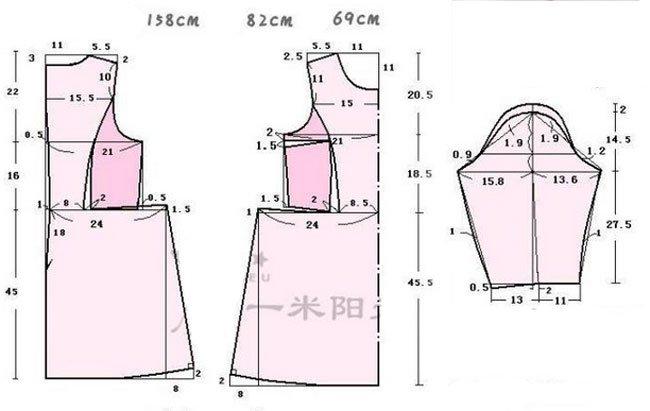 Выкройка платье с юбкой солнце своими руками