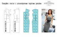 Выкройка платья халата с цельнокроеным рукавом фото 421
